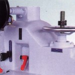 Adjustment for saw spindle