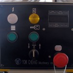 Control panel. All of machine motions are grouped in one control panel for operation convenience, including cutter oscillation, motor on_off control, and clamping cylinder control etc.
